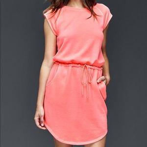 GAP French terry cloth dress neon flamingo - XL